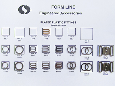 plated plastic fittings